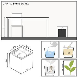 13702 CANTO Stone 30 low graphitschwarz