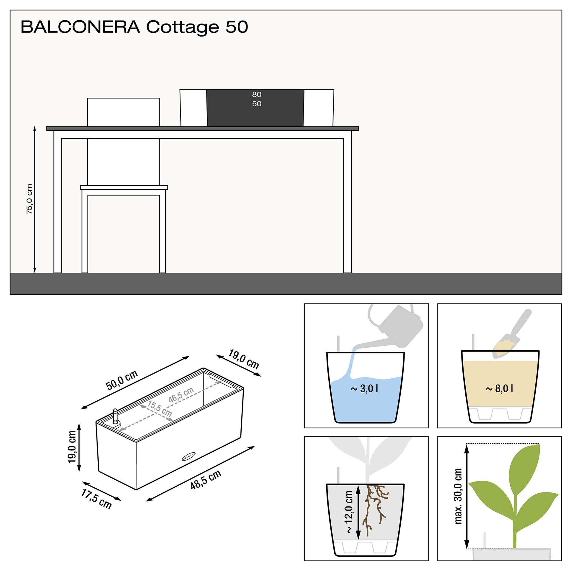 15602 BALCONERA Cottage 50 granit