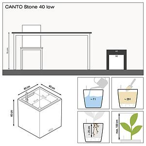 13722 CANTO Stone 40 low graphitschwarz
