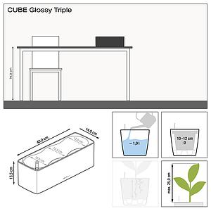 13671CUBE Glossy Triple anthrazit highgloss
