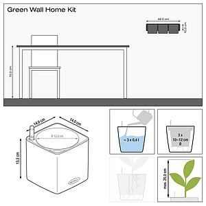 13524 Green Wall Home Kit Glossy anthrazit highgloss