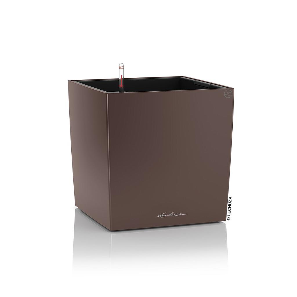 Lechuza Premium Collection CUBE 30 all in one espresso metallic