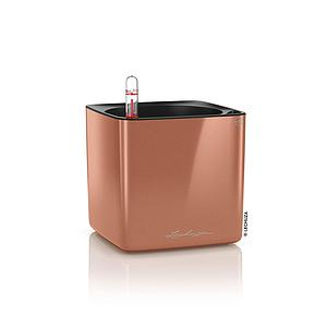 Lechuza CUBE Glossy 14 all in one Spicy Copper Highgloss